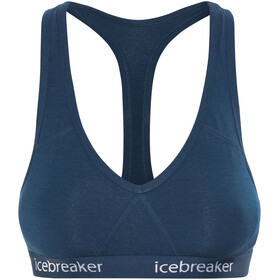 Icebreaker Sprite Biustonosz sportowy Kobiety niebieski